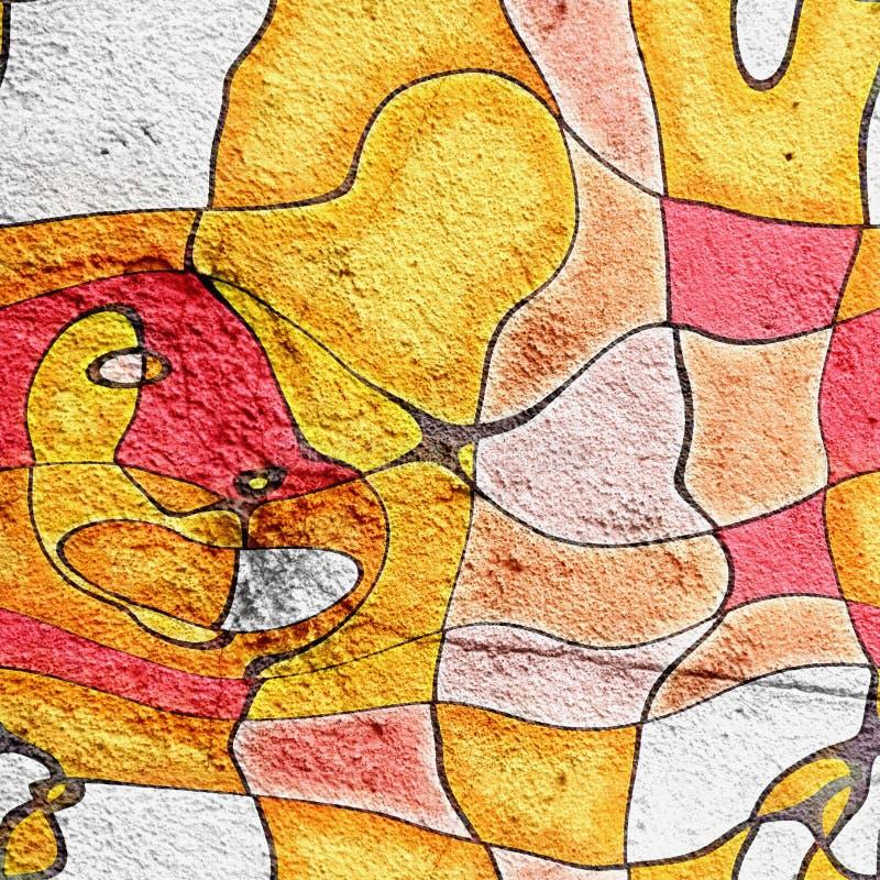 Art artistique d'abrégé sur style de bande dessinée d'illustration illustration stock