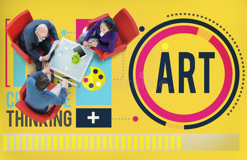 Art Artwork Creation Creative Hobby begrepp arkivbild