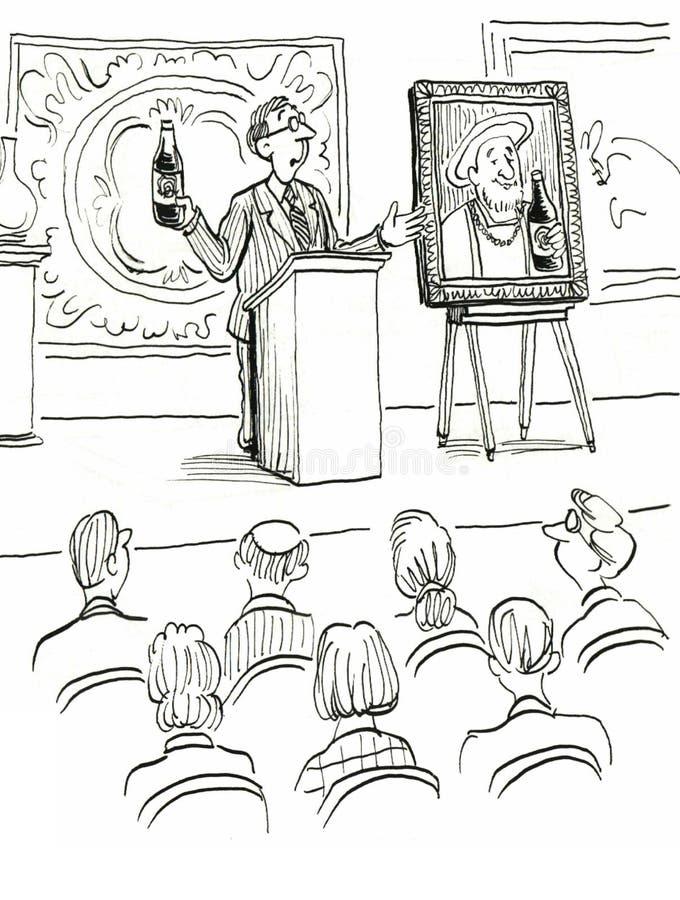 Art Auction vektor illustrationer