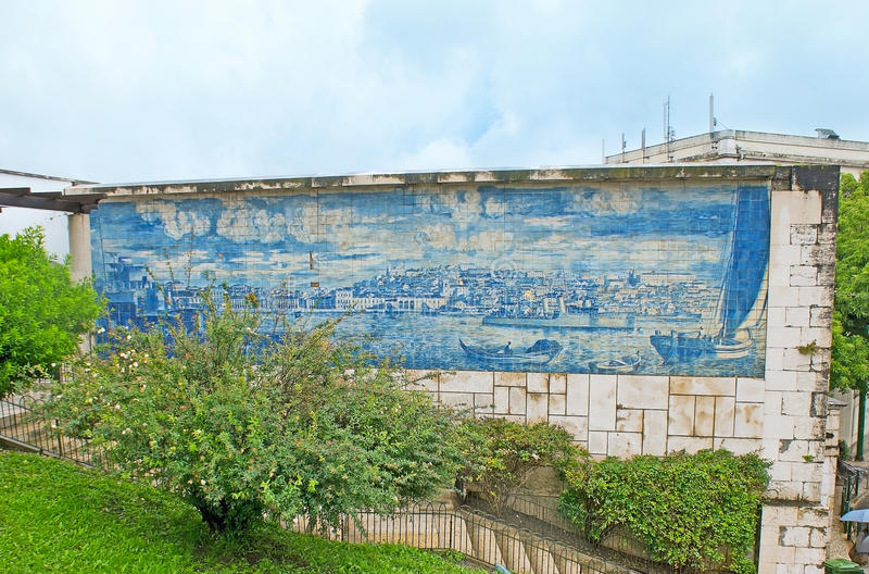 The art of azulejos in Lisbon stock photos