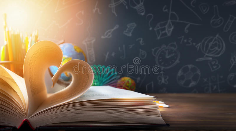 Art back to School background; discovery education royalty free stock images
