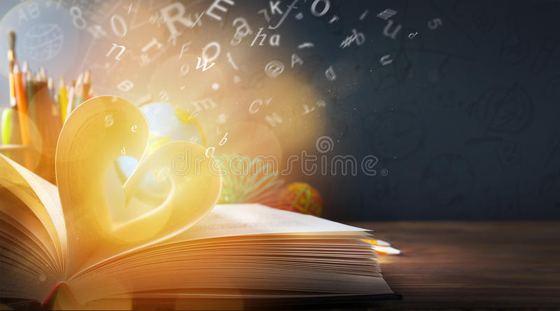 Art back to School background; discovery education royalty free stock photo