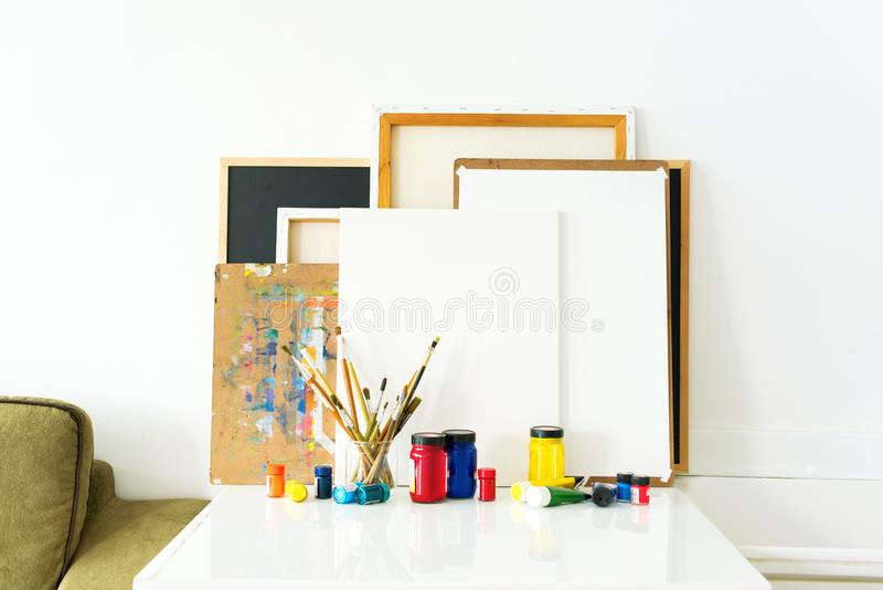 Art background equipment tools drawing royalty free stock image