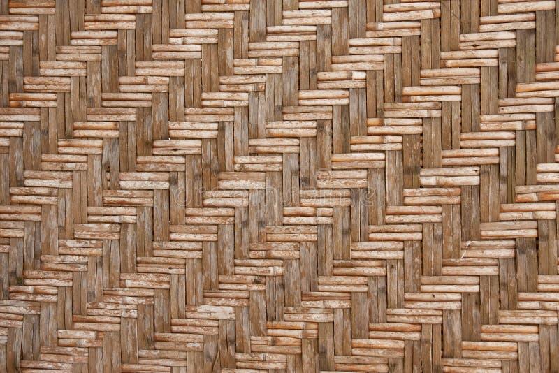 Art-Bambuswand des Musters gebürtige siamesische stockbild