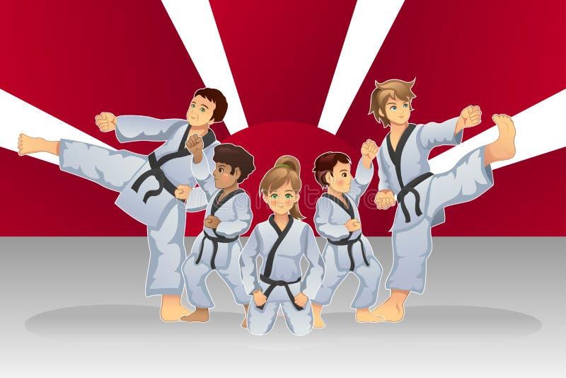 Art Banner martial illustration libre de droits