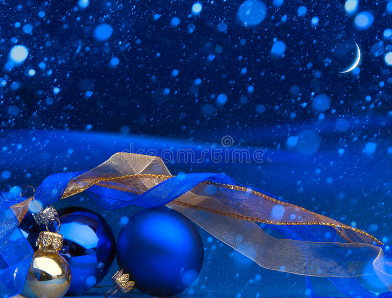 Art Blue Christmas greeting card royalty free stock photo