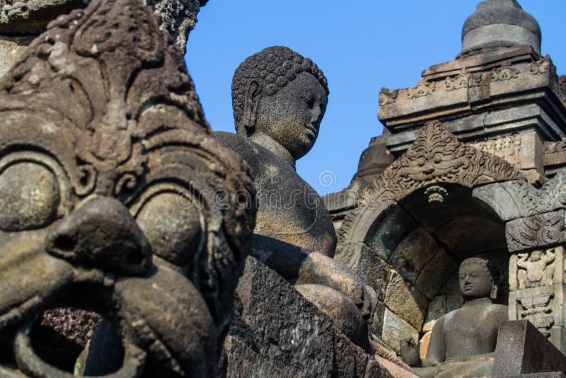 Art of Borobudur. Buddha image of Borobudur in Yogyakarta,Indonesia royalty free stock image