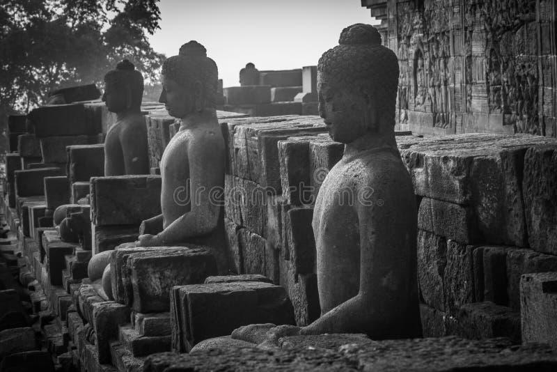Art of Borobudur. Buddha images of Borobudur in Yogyakarta,Indonesia royalty free stock photography