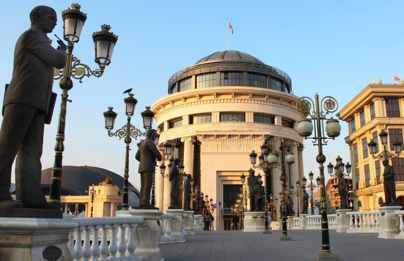 Art Bridge della città di Skopje, Macedonia fotografie stock libere da diritti