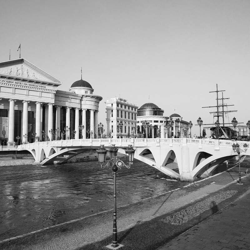 Art Bridge, Skopje, Macedonia del Nord immagini stock libere da diritti