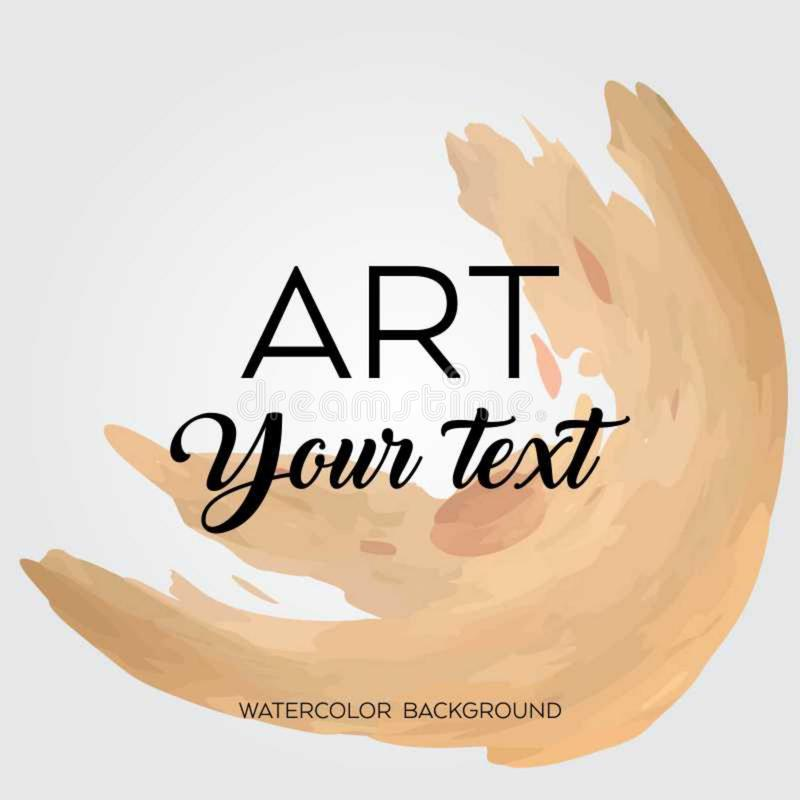 Art brush painted abstract background. Acrylic design illustration vector over square frame. Perfect watercolor design for headline, logo and sale banner vector illustration