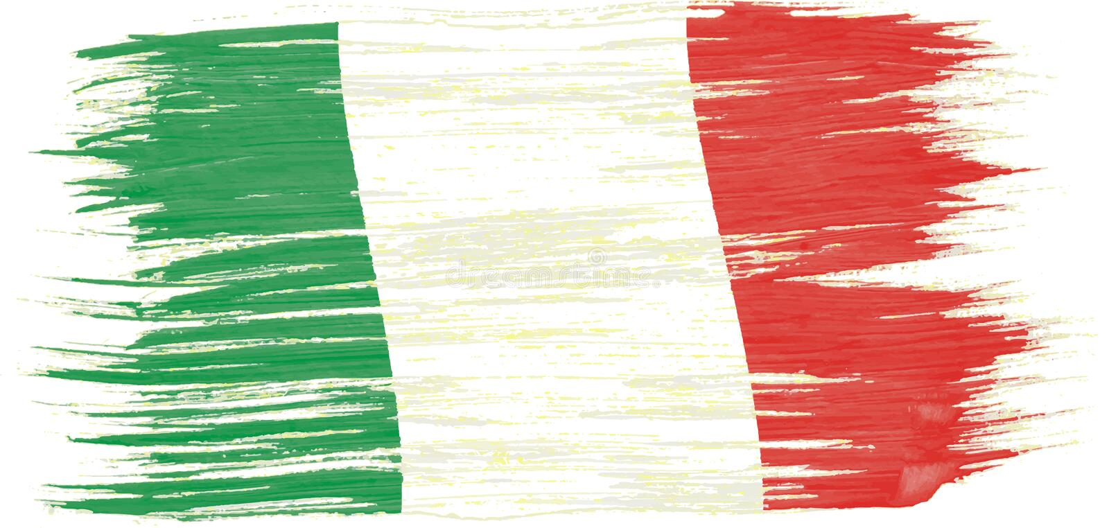 Art brush watercolor painting of Italy flag vector illustration