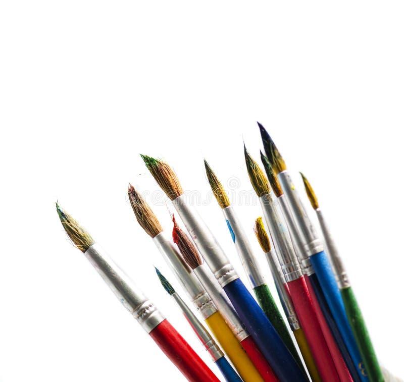 Art Brushes. Isolated over white background stock photo