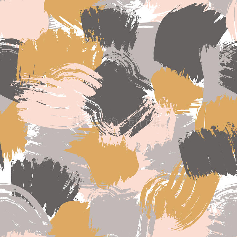 Art brushes painted seamless pattern. Textured hand drawn vector. Cross brush strokes seamless bold pattern in trendy colors. Artistic, modern, creative vector vector illustration
