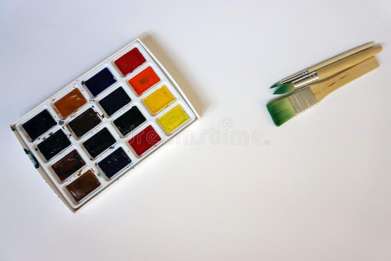 Art Brushes For Watercolor stock foto