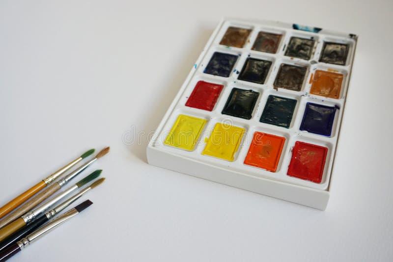 Art Brushes For Watercolor royalty-vrije stock foto