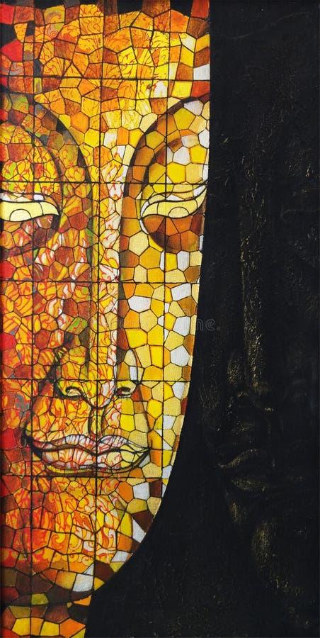 Free Art Buddha Stained Glass. Stock Image - 103684011