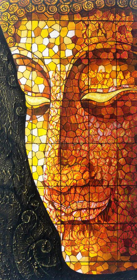 Free Art Buddha Stained Glass. Royalty Free Stock Image - 103684056