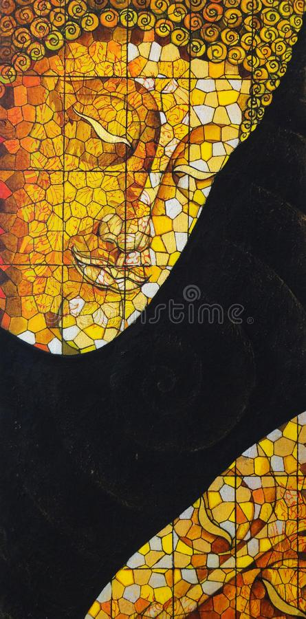 Free Art Buddha Stained Glass. Royalty Free Stock Photos - 103684078