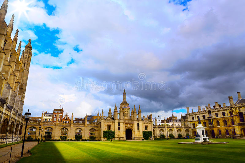 Art Cambridge University and Kings College Chapel stock image