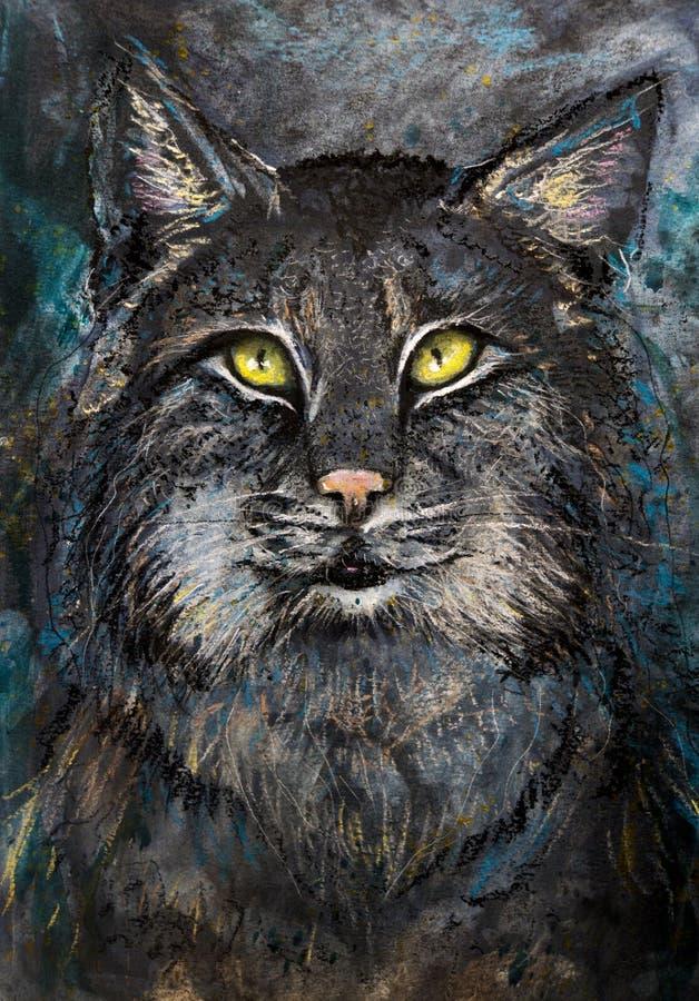 Art Cat portrait royalty free stock images