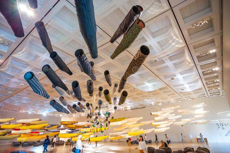 Art Center nazionale in Roppongi, Tokyo, Giappone fotografia stock libera da diritti