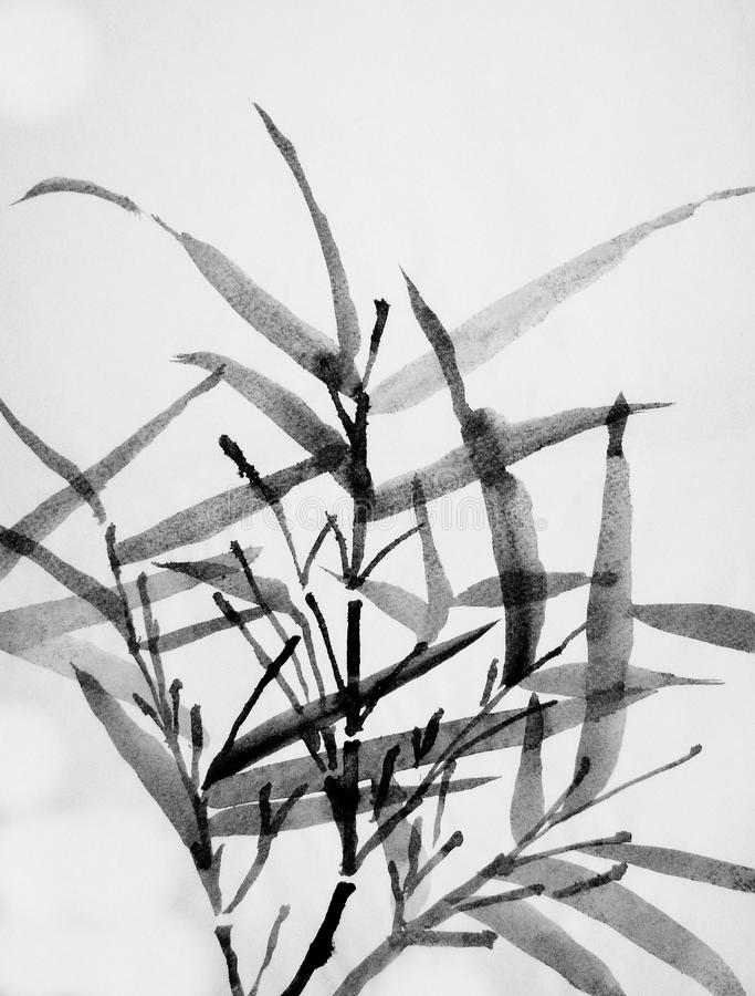 Art chinois : bambou illustration stock