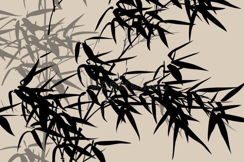 Art chinois : peinture d'encre illustration de vecteur
