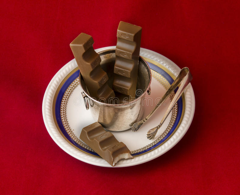 Art and chocolate stock photo