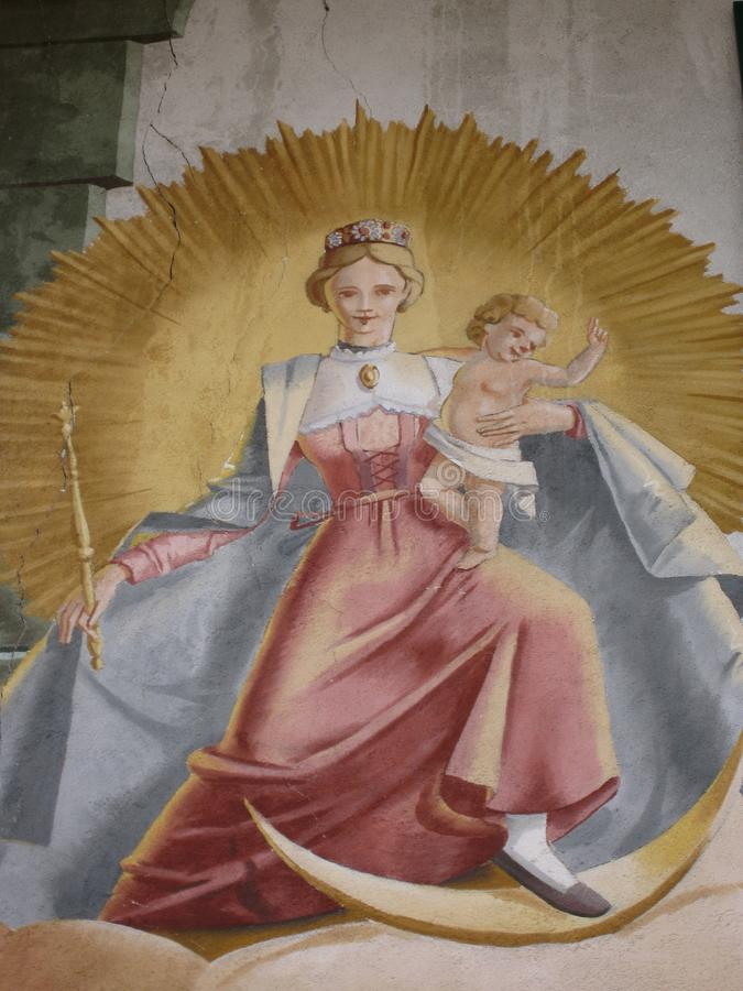 Art Christian Imagery Madonna e criança bíblicos fotografia de stock