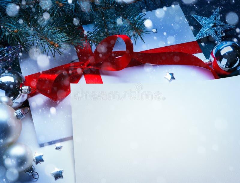 Art Christmas greeting card royalty free stock image