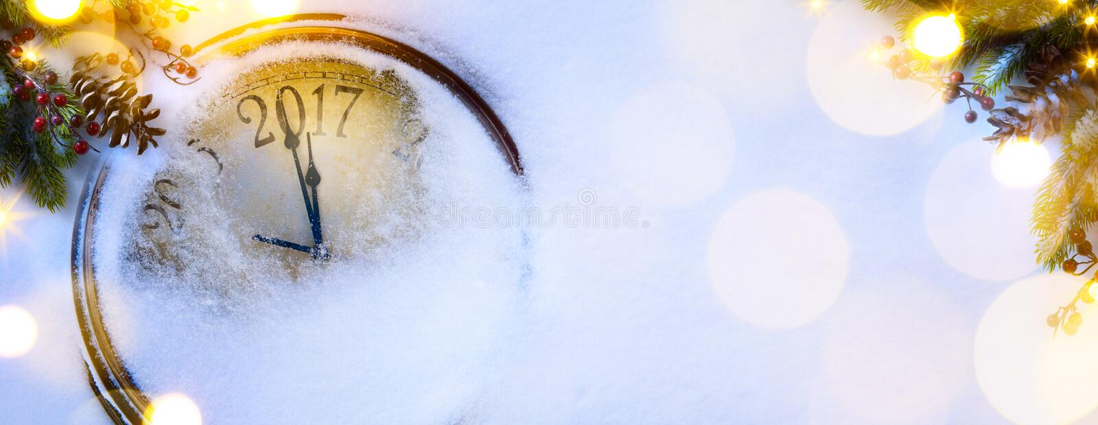 Art Christmas and happy new years eve background; 2017 royalty free stock photos