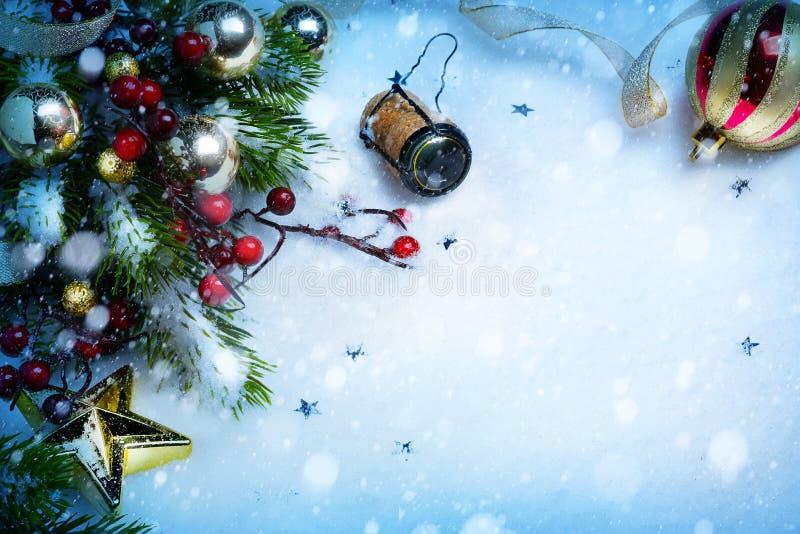 Art Christmas och partibakgrunder för nytt år fotografering för bildbyråer