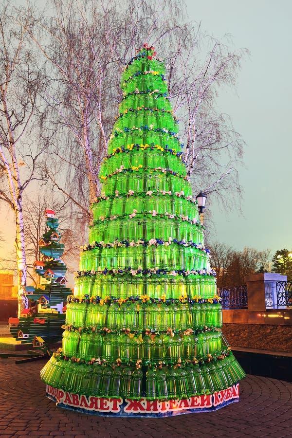 Art christmas tree stock image
