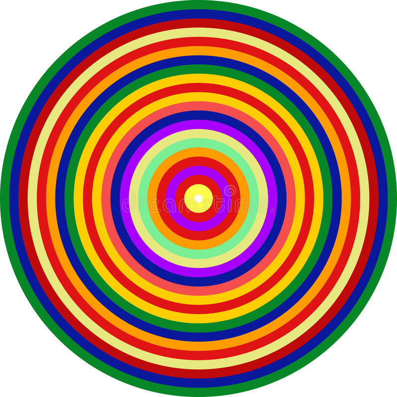 art circles concentric ct homage multicolor op to ελεύθερη απεικόνιση δικαιώματος