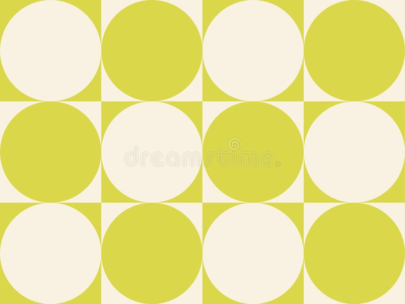 art circles green op squares yellowish διανυσματική απεικόνιση