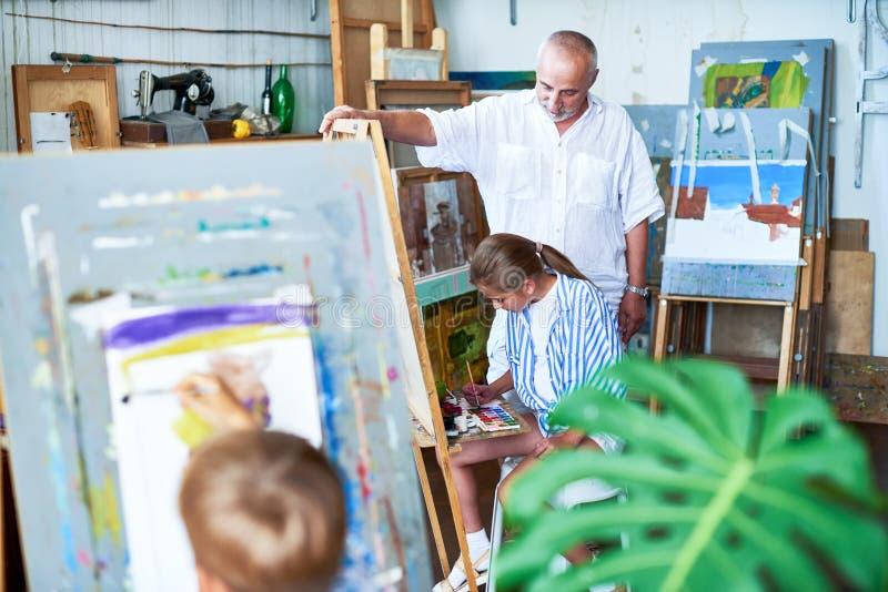 Art Class For Children imagens de stock