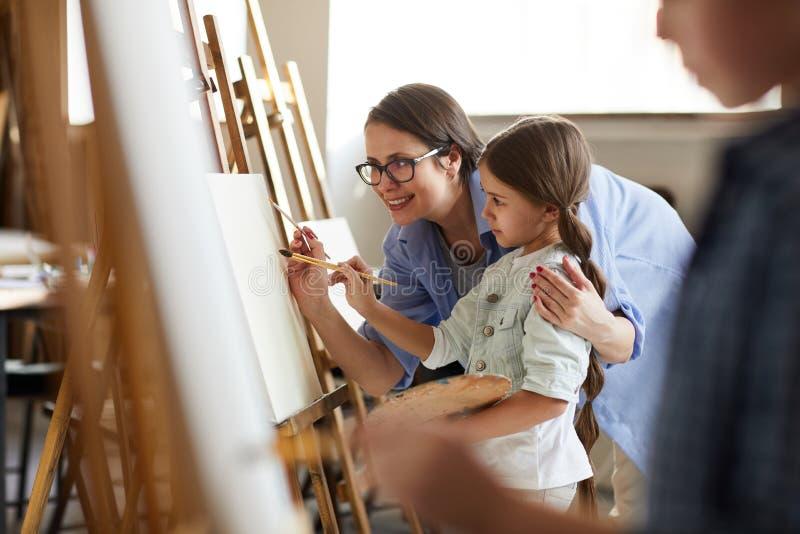 Art Class For Children arkivfoton