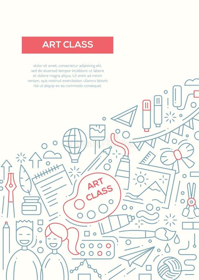 Art Class - Line Design Brochure Poster Template A4 Stock Vector ...