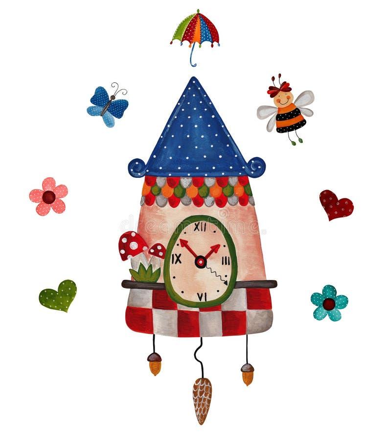 Download Art clock stock illustration. Image of stationery, heart - 28405401