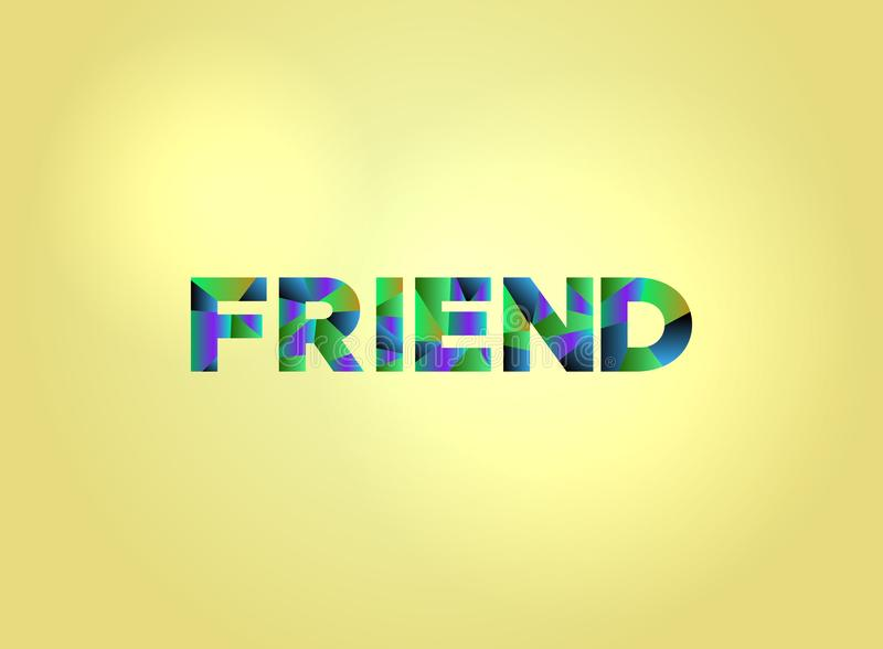 Art coloré de Word de concept d'ami illustration stock