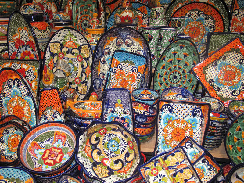 Art colorful plates traditional design royalty free stock images