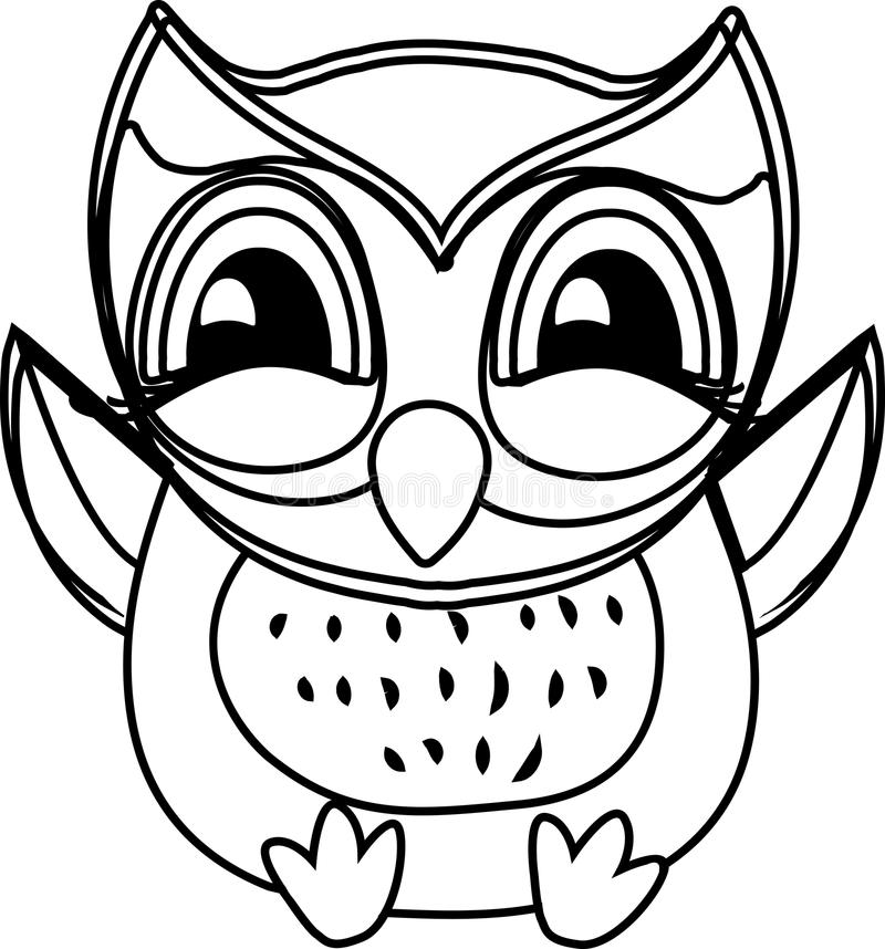 Art Coloring book owl royalty free illustration