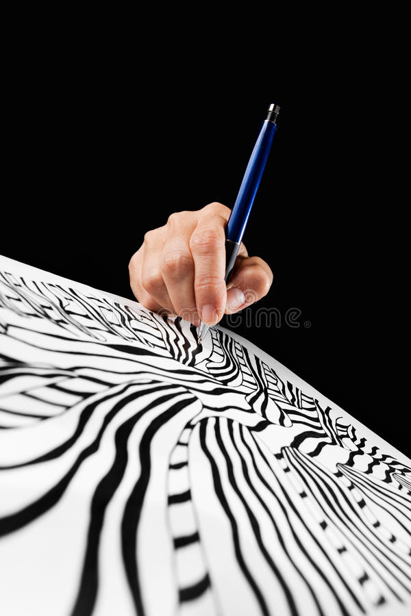 Art concept. Art school concept on black background royalty free stock photography