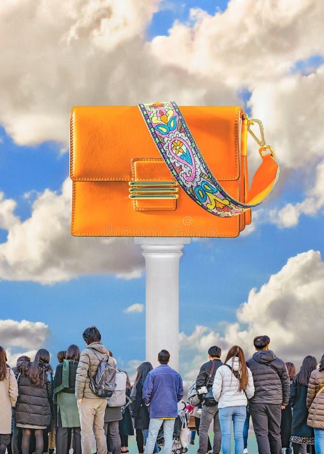 Art contemporain de collage de concept de consommationisme illustration libre de droits