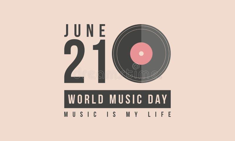 Art courant de vecteur de jour de musique du monde de collection