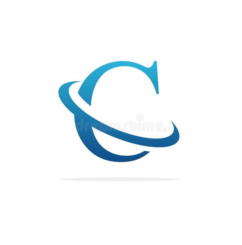 Art créatif de vecteur de conception de logo de C illustration libre de droits