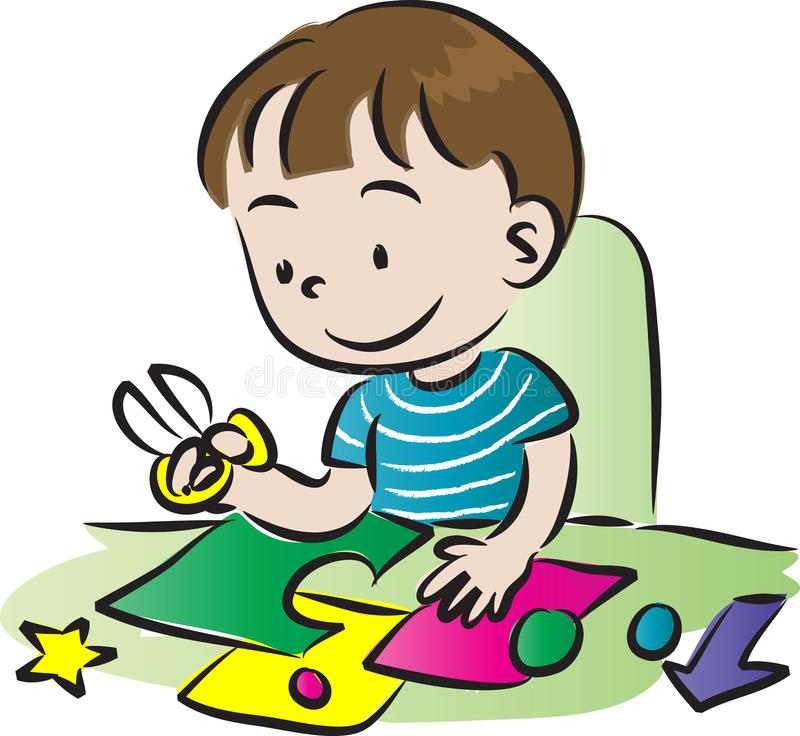 Art and craft stock illustration illustration of child for Boys arts and crafts