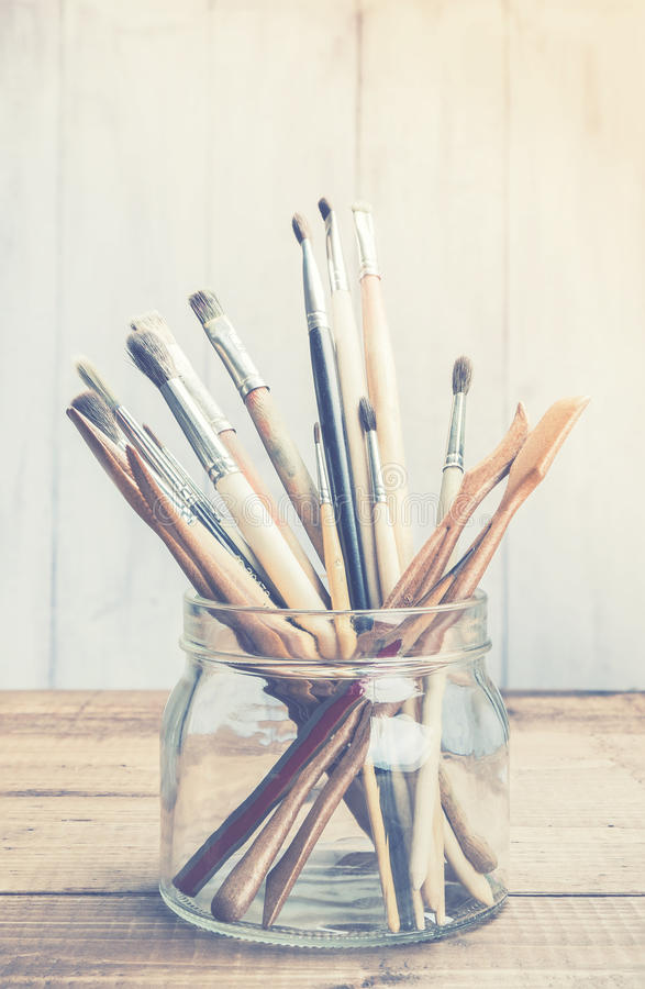 Art and craft tools royalty free stock image