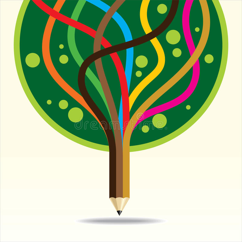 Art and creation tree vector illustration